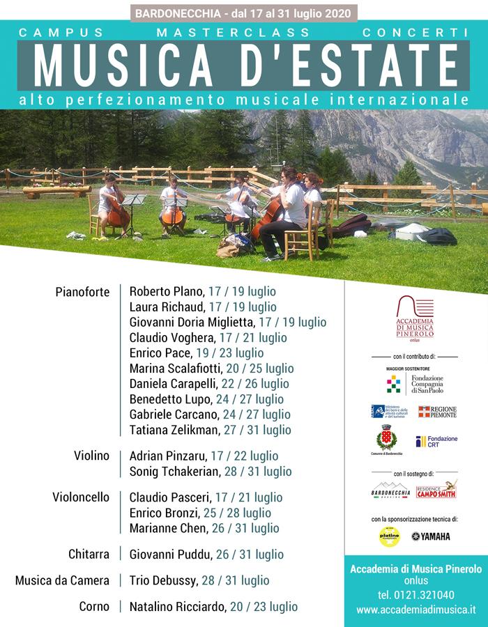 Musica d'Estate masterclass alto perfezionamento a Bardonecchia