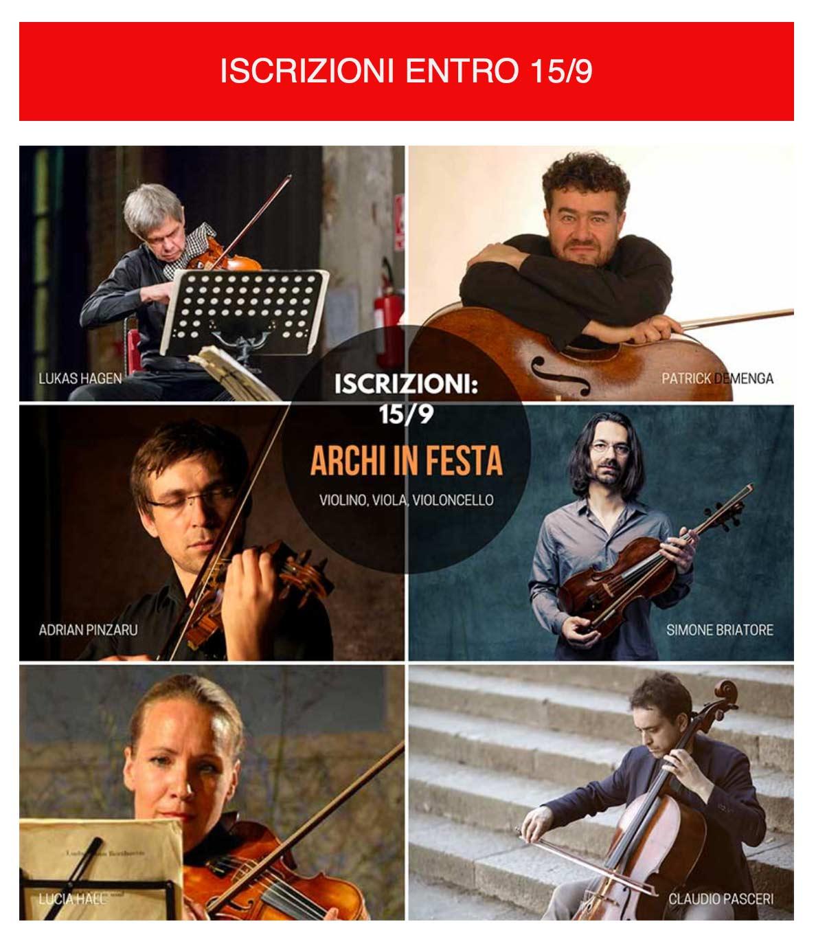 Iscrizioni corsi viola violino violoncello