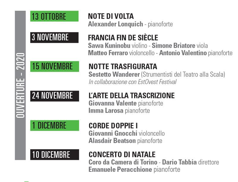 stagione concertistica 2020/21 Accademia di musica di Pinerolo