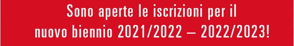 iscrizioni biennio 2021-23