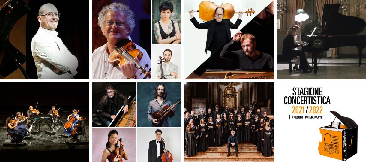 collage stagione concertistica 2021 Accademia di Musica di Pinerolo Preludi